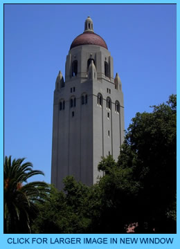 Stanford Hoover Tower - Click for larger image in new window